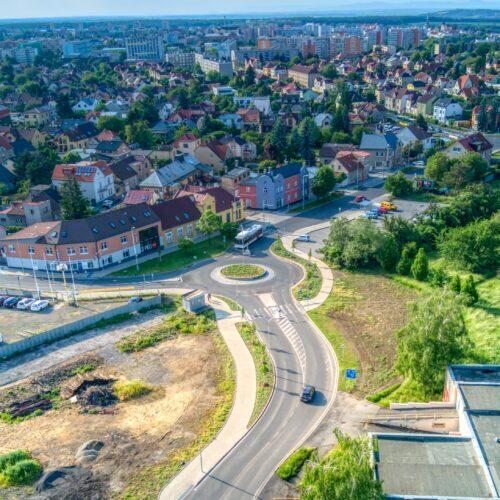 Okruzni krizovatka Na Kovarne ODS Kladno